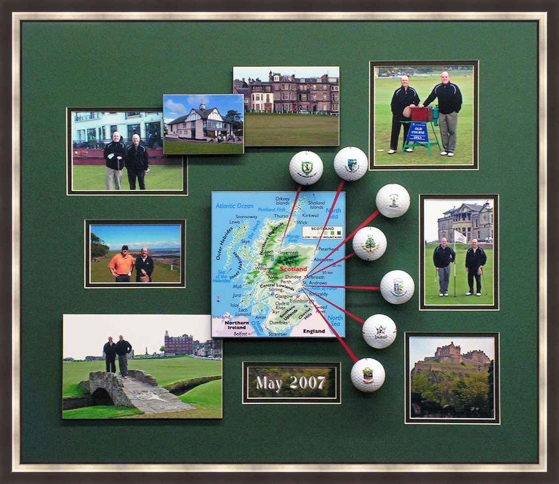 GOLF SCOTLAND with frame